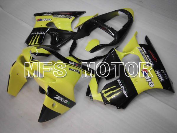 Kawasaki NINJA ZX6R 1998-1999 ABS Fairing - Monster - Black Yellow - MFS6455