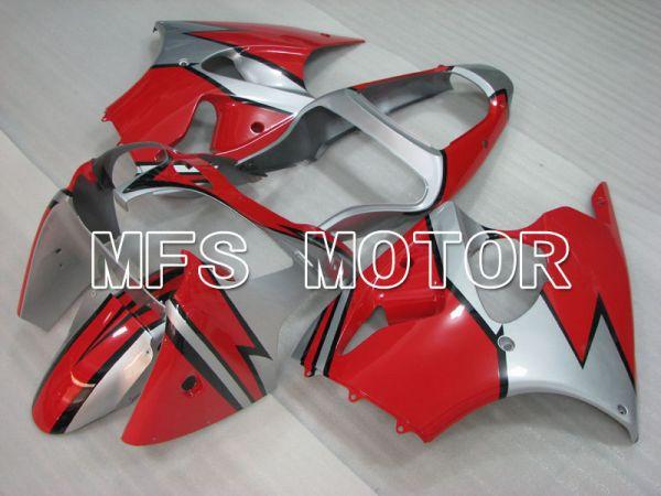 Kawasaki NINJA ZX6R 2000-2002 Injection ABS Fairing - Factory Style - Red Silver - MFS3661
