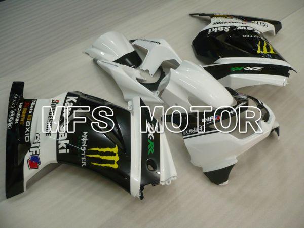Kawasaki NINJA EX250 2008-2012 Injection ABS Fairing - Monster - Black White - MFS6421