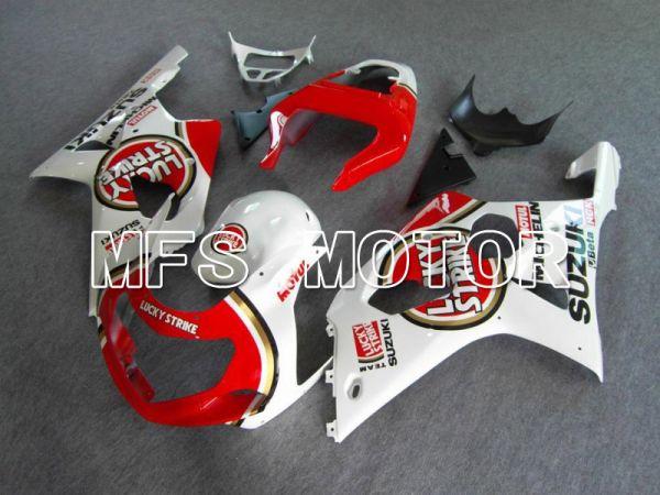 Suzuki GSXR1000 2000-2002 Injection ABS Fairing - Lucky Strike - Red White - MFS5430