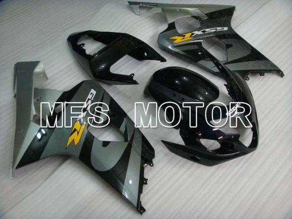 Suzuki GSXR600 GSXR750 2004-2005 Injection ABS Fairing - Factory Style - Black Gray - MFS2270