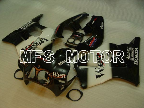 HONDA CBR 250RR MC22 1990-1998 Injection ABS Fairing - West - Black White - MFS4569