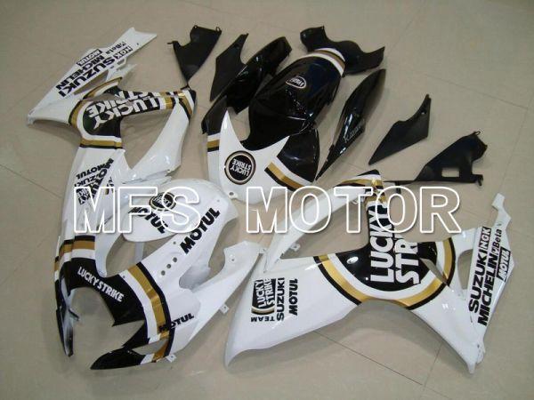 Suzuki GSXR600 GSXR750 2006-2007 Injection ABS Fairing - Lucky Strike - Black White - MFS4940
