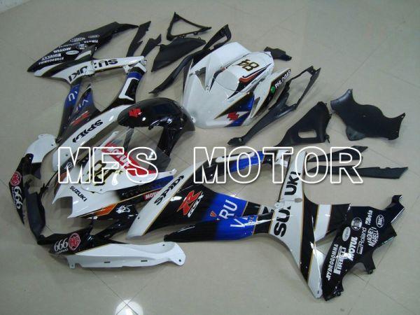 Suzuki GSXR600 GSXR750 2008-2010 Injection ABS Fairing - VIRU - Black White - MFS5122