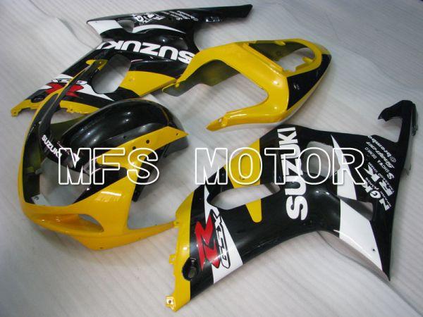 Suzuki GSXR600 2001-2003 Injection ABS Fairing - Factory Style - Black Yellow - MFS2125