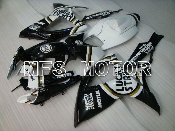 Suzuki GSXR600 GSXR750 2006-2007 Injection ABS Fairing - Lucky Strike - Black White - MFS4941
