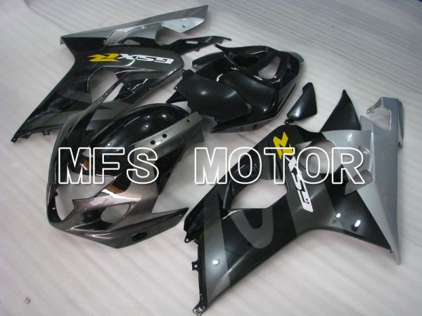 Suzuki GSXR600 GSXR750 2004-2005 Injection ABS Fairing - Factory Style - Black Gray Silver - MFS4833