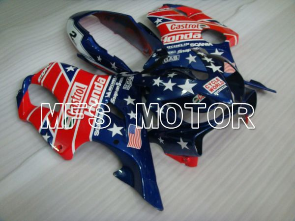Honda CBR600 F4i 2004-2007 Injection ABS Fairing - Castrol - Blue Red - MFS4769