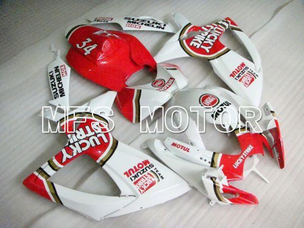 Suzuki GSXR600 GSXR750 2006-2007 Injection ABS Fairing - Lucky Strike - White Red - MFS4938
