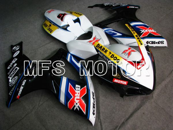 Suzuki GSXR600 GSXR750 2006-2007 Injection ABS Fairing - Dark Dog - Black White - MFS4884