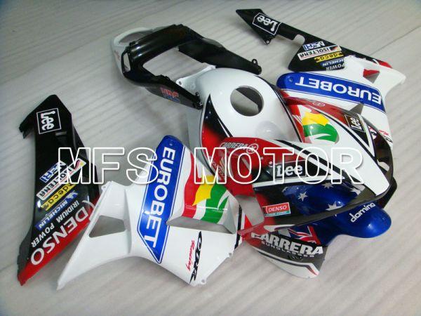 Honda CBR600RR 2003-2004 Injection ABS Fairing - Eurobet - White Black Blue - MFS2065