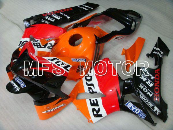 Honda CBR600RR 2003-2004 Injection ABS Fairing - Repsol - Orange Red Black - MFS2078