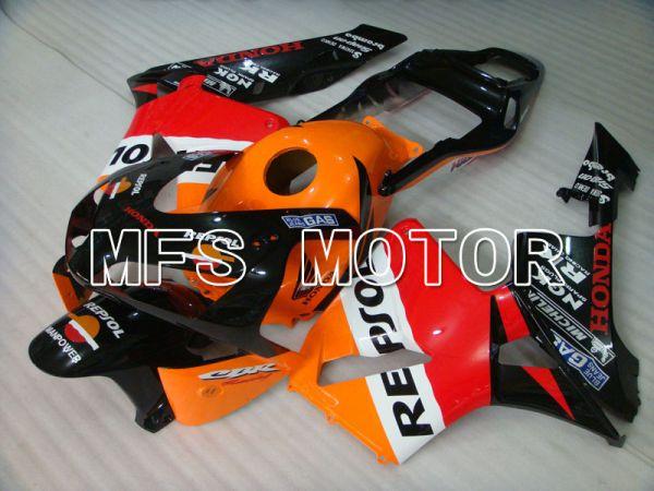 Honda CBR600RR 2003-2004 Injection ABS Fairing - Repsol - Orange Red Black - MFS2079