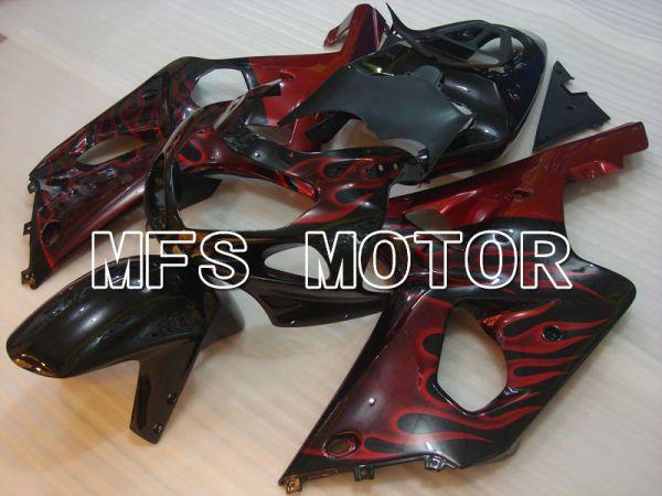 Suzuki GSXR600 2001-2003 Injection ABS Fairing - Flame - Black - MFS2088