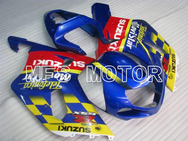 Suzuki GSXR600 2001-2003 Injection ABS Fairing - Movistar - Red Blue - MFS2099