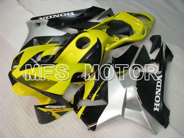 Honda CBR600RR 2003-2004 ABS Injection Fairing - Factory Style - Yellow Silver Black - MFS2100
