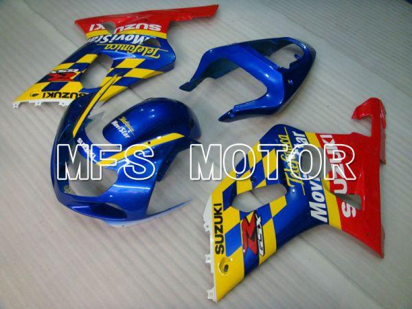 Suzuki GSXR600 2001-2003 Injection ABS Fairing - Movistar - Red Blue - MFS2101