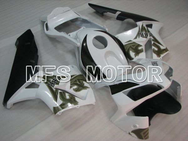 Honda CBR600RR 2003-2004 ABS Injection Fairing - Others - ArmyGreen White Black - MFS2111