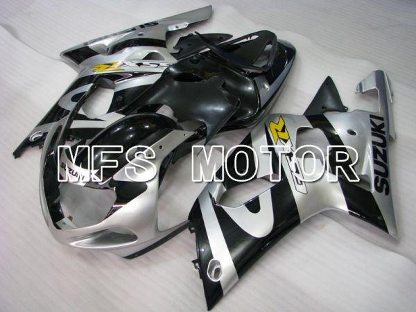 Suzuki GSXR750 2000-2003 Injection ABS Fairing - Factory Style - Black Silver - MFS6947