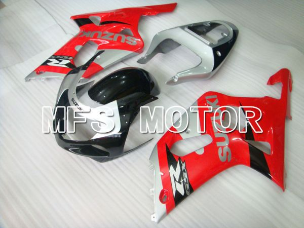 Suzuki GSXR600 2001-2003 Injection ABS Fairing - Factory Style - Black Silver Red - MFS2123