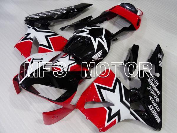 Honda CBR600RR 2003-2004 ABS Injection Fairing - Customize - White Red Black - MFS2127