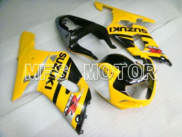 Suzuki GSXR600 2001-2003 Injection ABS Fairing - Factory Style - Black Yellow - MFS2129