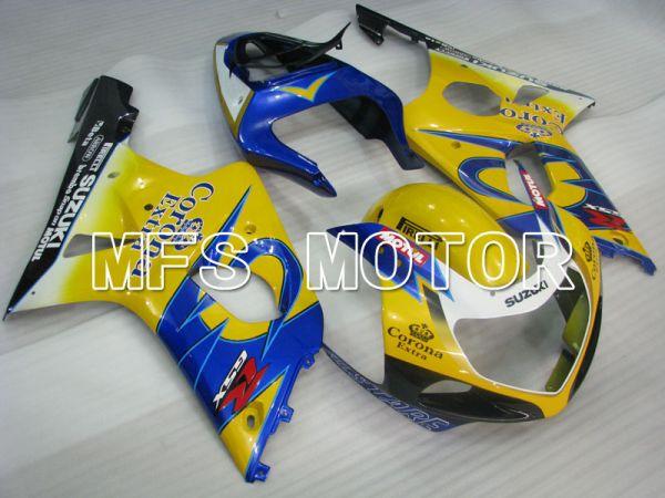 Suzuki GSXR750 2000-2003 Injection ABS Fairing - Factory Style - Black Yellow Blue - MFS6954