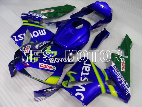 Honda CBR600RR 2003-2004 ABS Injection Fairing - Castrol - Green Blue - MFS2133