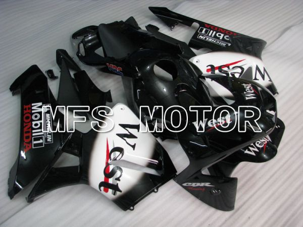 Honda CBR600RR 2003-2004 ABS Injection Fairing - West - White Black - MFS2139