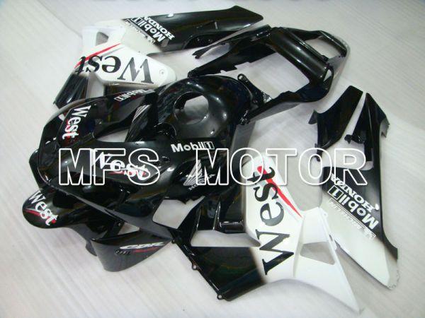 Honda CBR600RR 2003-2004 ABS Injection Fairing - West - White Black - MFS2140