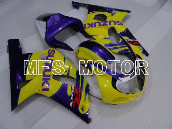 Suzuki GSXR600 2001-2003 Injection ABS Fairing - Factory Style - Yellow Purple - MFS2142