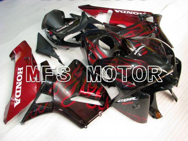 Honda CBR600RR 2005-2006 Injection ABS Fairing - Flame - Red Black - MFS2154