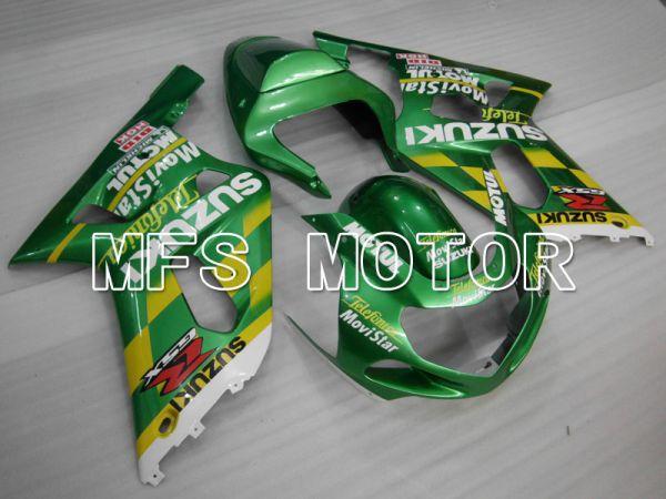 Suzuki GSXR750 2000-2003 Injection ABS Fairing - Movistar - Green - MFS6975