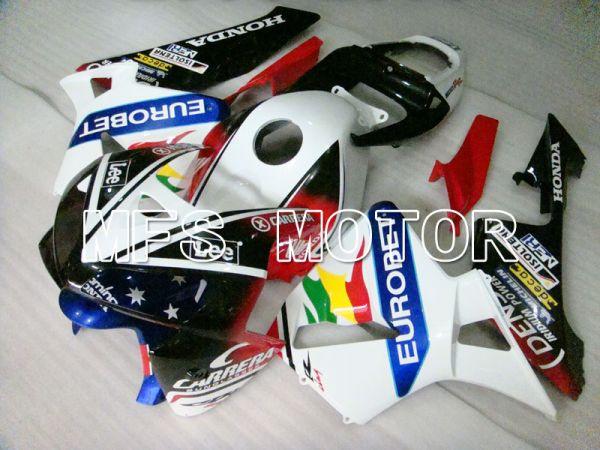 Honda CBR600RR 2005-2006 Injection ABS Fairing - Eutobet - Red Black White - MFS2162