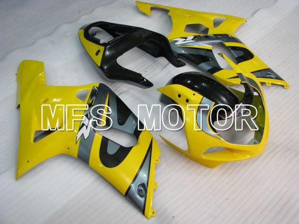 Suzuki GSXR600 2001-2003 Injection ABS Fairing - Factory Style - Black Yellow - MFS2167
