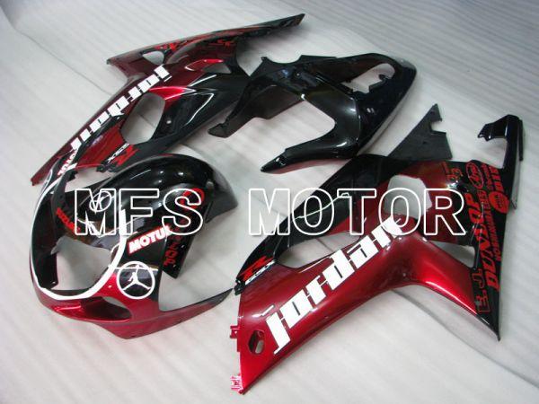 Suzuki GSXR600 2001-2003 Injection ABS Fairing - Jordan - Black Red - MFS2186