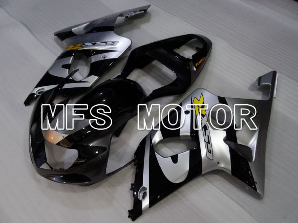 Suzuki GSXR600 2001-2003 Injection ABS Fairing - Factory Style - Black Silver - MFS2196