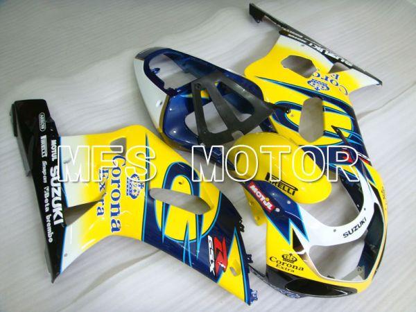 Suzuki GSXR600 2001-2003 Injection ABS Fairing - Corona - Black Yellow Blue - MFS2201