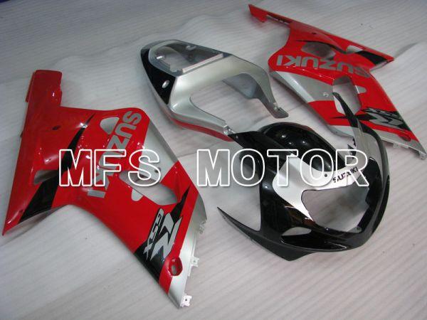 Suzuki GSXR600 2001-2003 Injection ABS Fairing - Factory Style - Black Red Silver - MFS2213