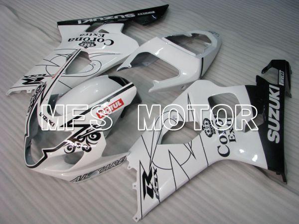 Suzuki GSXR600 GSXR750 2004-2005 Injection ABS Fairing - Corona - Black White - MFS2229