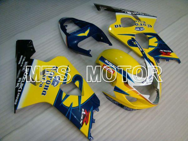 Suzuki GSXR600 GSXR750 2004-2005 Injection ABS Fairing - Corona - Black Blue Yellow - MFS2230