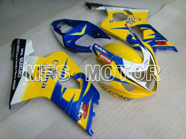 Suzuki GSXR600 GSXR750 2004-2005 Injection ABS Fairing - Corona - Black Blue Yellow - MFS2232
