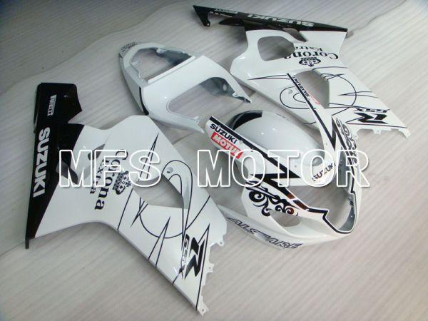Suzuki GSXR600 GSXR750 2004-2005 Injection ABS Fairing - Corona - Black White - MFS2234