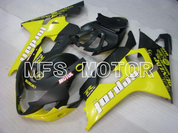 Suzuki GSXR600 GSXR750 2004-2005 Injection ABS Fairing - Jordan - Black Yellow - MFS2242