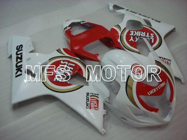 Suzuki GSXR600 GSXR750 2004-2005 Injection ABS Fairing - Luky Strike - White Red - MFS2243