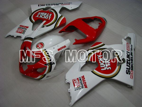 Suzuki GSXR600 GSXR750 2004-2005 Injection ABS Fairing - Luky Strike - White Red - MFS2246