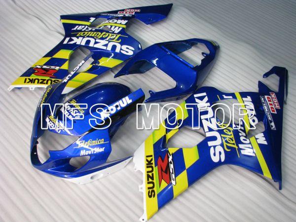 Suzuki GSXR600 GSXR750 2004-2005 Injection ABS Fairing - Movistar - Blue Yellow - MFS2248