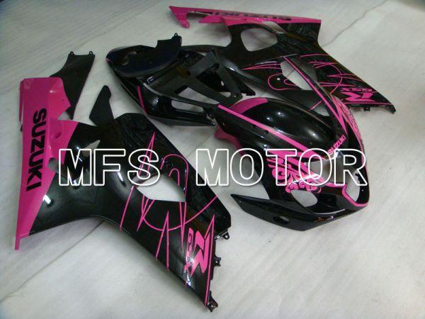 Suzuki GSXR600 GSXR750 2004-2005 Injection ABS Fairing - Factory Style - Black Pink - MFS2264