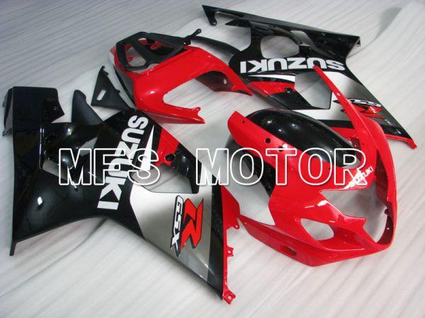 Suzuki GSXR600 GSXR750 2004-2005 Injection ABS Fairing - Factory Style - Black Red - MFS2279