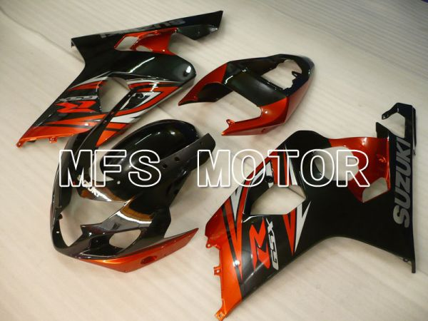 Suzuki GSXR600 GSXR750 2004-2005 Injection ABS Fairing - Factory Style - Black Red - MFS2291